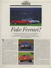 Fiat Dino Classic and Sportcar Profile Dez 1988