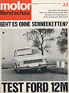 Fiat Dino motor Rundschau 1966