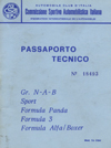 Passaporto Tecnico Porsche 964 Carrera Cup