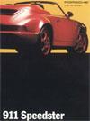 Broschüre Porsche 964 Carrera 2 Speedster